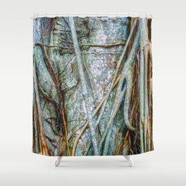Strangler Fig Closeup Shower Curtain