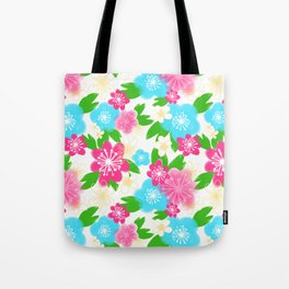 04 Pattern of Watercolor Flowers Tote Bag