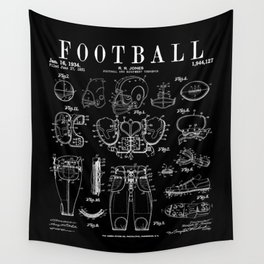 American Football Old Vintage Patent Drawing Print Wall Tapestry