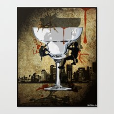 Life is a Glass of Margerita Canvas Print