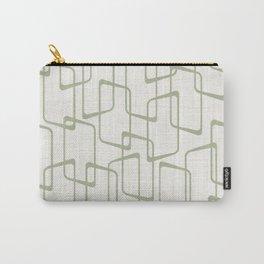 Reverse Beryl Green Mid Century Geometric Pattern Carry-All Pouch