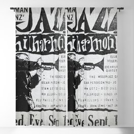 Vintage Jazz Poster, 1955 Blackout Curtain