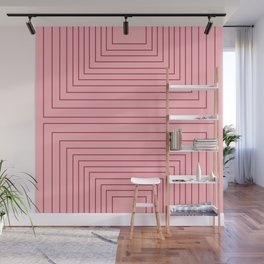 Layers 2 pink Wall Mural