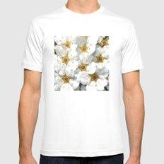 Flowers   Flower   Nadia Bonello   Vintage Inspired White Flowers MEDIUM White Mens Fitted Tee