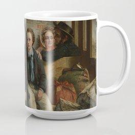 "Abraham Solomon - ""Thus part we rich in sorrow, parting poor."" (1855, alt) Coffee Mug"