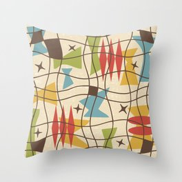 Mid Century Modern Abstract Pattern 571 Throw Pillow