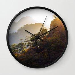 Seoraksan Layers Wall Clock