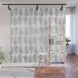 Pine trees - Silver Wall Mural