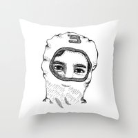 charlie Throw Pillows featuring Charlie by Addison Karl
