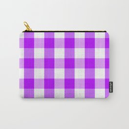 Purple and white Tartan (Scotch) Pattern Carry-All Pouch