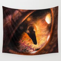 smaug Wall Tapestries featuring I am Fire, I am Death! by Ashqtara