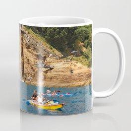 Cliff diving and kayaks Coffee Mug