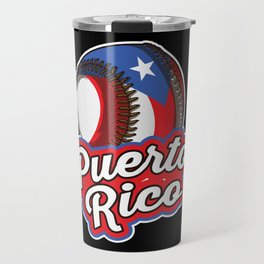 Puerto Rico Baseball | Proud Boricua Flag Travel Mug