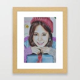 Kpop Twice Tzuyu Fanart Framed Art Print