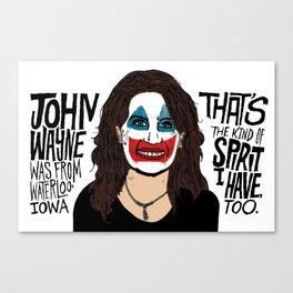 John Wayne Bachmann Canvas Print