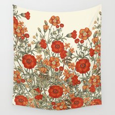 Vintage Garden 10 (Sunset Beauty) Wall Tapestry