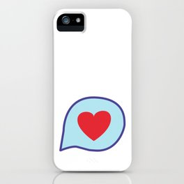 Valentine heart text balloon iPhone Case