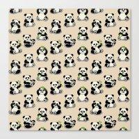 pandas Canvas Prints featuring Pandas by Olya Yang