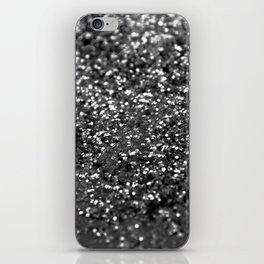 Gray Black Night Glitter #1 #shiny #decor #art #society6 iPhone Skin