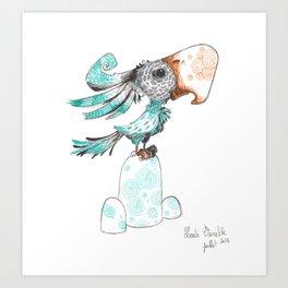 Cacatoès Art Print
