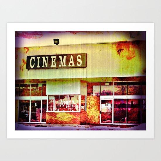 Abandoned Cinema Art Print