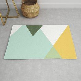 Geometrics - citrus & concrete Rug