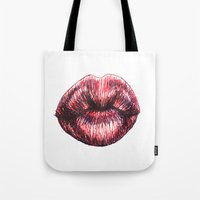the xx Tote Bags featuring xx by smudgeofpaint