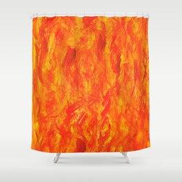 Wall of Fire II Shower Curtain