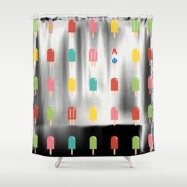 Popsicle Pattern - Retro Random Pops #861 Shower Curtain