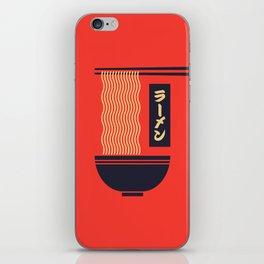 Ramen Japanese Food Noodle Bowl Chopsticks - Red iPhone Skin