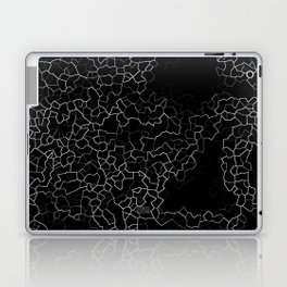 White on Black Crackle Laptop & iPad Skin