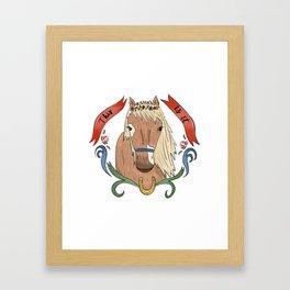 Floral Pony Framed Art Print