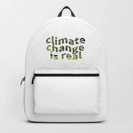 Climate Change Global Warming Is real Backpack