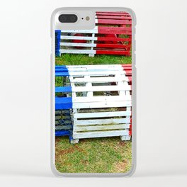 Acadian Lobster Traps Clear iPhone Case