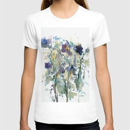 Iris Garden watercolor painting T-shirt