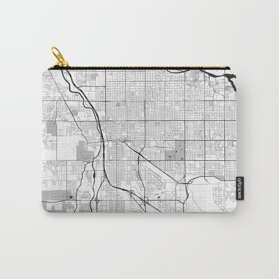 Tucson Map Gray Carry-All Pouch