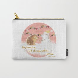 Winter Woodland: My Heart is Yours - Pink Carry-All Pouch