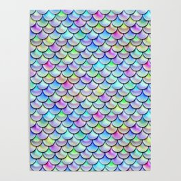 Rainbow Bubble Scales Poster