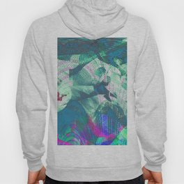 Tiny Dragon in Abstract Mountain Landscape Hoody