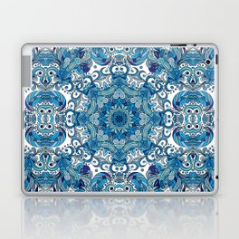 Blue Boho Mandela Pattern Laptop & iPad Skin