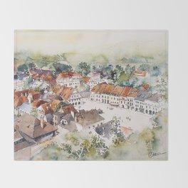 Old Marketplace in Kazimierz Dolny | Poland Throw Blanket