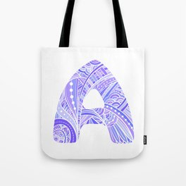 Letter A in ethnic style  Tote Bag