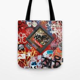 New York City Door Graffiti Tote Bag
