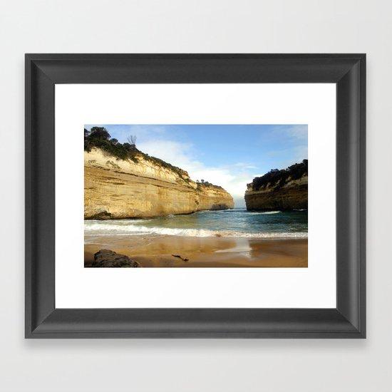 Gigantic Cliffs of the Ocean Framed Art Print