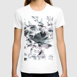 Modern Black and White Diamond Abstract Geometric T-shirt