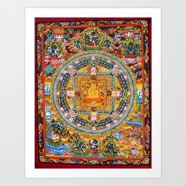 Mandala Buddhist 2 Art Print