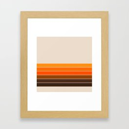 Golden Spring Stripes Framed Art Print