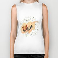 princess mononoke Biker Tanks featuring Princess Mononoke by Amarie