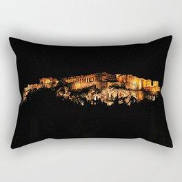 Acropolis Night View Rectangular Pillow