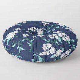 Floral purple dogwood Floor Pillow